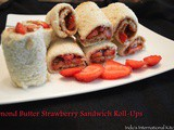Almond Butter Strawberry Sandwich Roll Ups