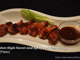 Asian Style Sweet and Spicy Chicken Wings (Paleo friendly)