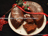 Christmas Cake (Dry Fruit and Nut Cake)
