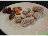 Dates, Almond and Coconut rolls (Easy 3 ingredient Date rolls)