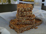Easy 'No Bake' Breakfast Bars (Sugar free, Vegan)