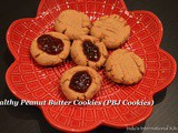 Healthy Peanut Butter Cookies (Peanut Butter Jelly cookies)