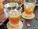 Rose Infused Iced Tea (Refined sugar free)