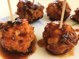 Sweet and Spicy Chicken Meatballs (Gluten Free, Paleo)