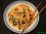 Sweet and Spicy Rice Noodles with vegetables