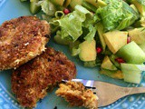 Tuna masala cakes with a coconut crust (Gluten Free, Whole30, Egg Free)