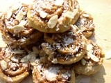 Nutmeg, Almond and Coconut Swirls with Cream Soda Glaze (for 'The Last Warner Woman')
