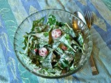 Spinach & Strawberry Salad with {Recipe} Cashew Mayonnaise