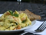 A Favorite Lunch, Scrambled Eggs with Smoked Salmon and Fresh Parsley