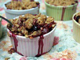 A Healthy Makeover for Peach and Blueberry Mimi Crumbles