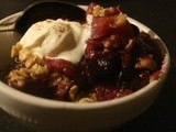 Apple and Blueberry Cobbler with Cinnamon Spiced Whipped Cream