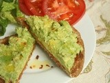 Avocado Toast with Harissa Paste for Breakfast, Lunch or Supper - or anytime