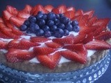 Berry Tart with a Lemon Cream Mascarpone Filling