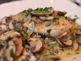Chicken and Mushrooms in a White Wine Sauce - a Quick and Easy Mid Week Supper
