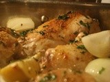 Chicken Casserole with Lemon, Garlic and White Wine