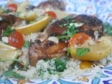 From Your Spice Rack, Moroccan Baked Chicken with Couscous