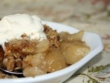Pear and Ginger Crumble
