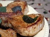 Pork Chops in Brown Butter with Crispy Sage Leaves from the Garden