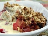 Rhubarb Crumble and Jamie Oliver's Vanilla Flecked Custard