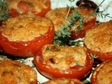 Roasted, Stuffed Tomatoes with Thyme from the Garden
