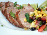 Spiced Grilled Pork Tenderloin with Corn and Blackbean Salsa