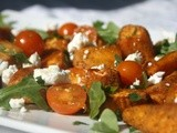 Spiced Roast Sweet Potatoes, Goat's Cheese, Tomato and Arugula Salad