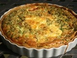 Spinach, Goat's Cheese and Tomato Quiche - from the pantry