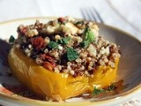 Stuffed Peppers with Quinoa and a Mediterranean Twist