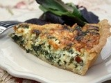 Swiss Chard, Caramelized Onions and Pecorino Cheese Quiche
