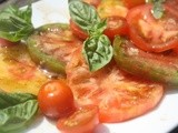 The first tomato salad of the year