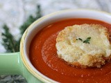 Tomato Soup with Cheese Toasts