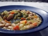 Tuscan White Bean Vegetable Soup with Parsley Pesto