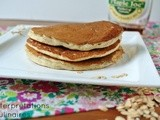 Fatfree vegan banana pancake