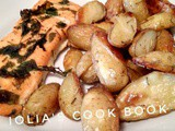 Baked salmon & baby potatoes