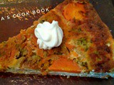 Broccoli & carrot cheese pie (upside down)