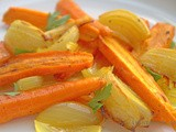 Slow Roasted Carrots & Onions with Turmeric