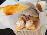 Bougatsa with sweet Custard (Greek Sweet phyllo pie)