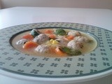 Chicken Meatball soup with vegetables