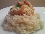 Fennel Risotto with Crispy Sesame Shrimp