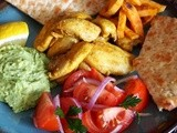 Mediterranean Spiced Chicken with Avocado Dip