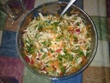 Northern Greek Salad with Cabbage and Carrot