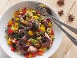 Octopus Salad with Peppers and Olives