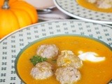Pumpkin Meatball Soup