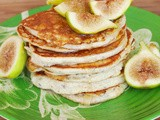 Yogurt Pancakes served with Honey and Figs