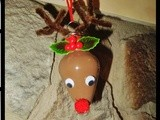 Diy Rudolph the Red Nosed Reindeer Bulb Ornament
