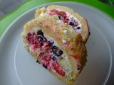 Cream Cheese & Summer Berry Roulade