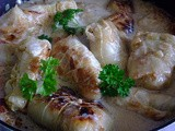 Stuffed Cabbage Rolls in a Sour Cream Sauce