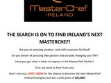 The applications to series 3 of MasterChef Ireland launched today