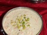 Double Celebrations with Gajar and Phool makhana Kheer ~ Carrots and Foxnuts Rice Pudding