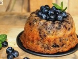 Eggless Whole Wheat Blueberry Bundt Cake
